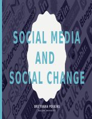 Social Media and Social Change ppt