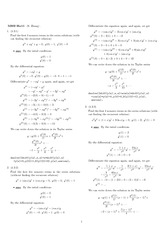 Homework 11 Solution Winter 2008 on Ordinary Differential Equations