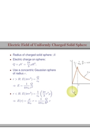 56. Electric Field of Uniformly Charged Solid Sphere