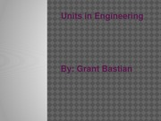 Units in Engineering