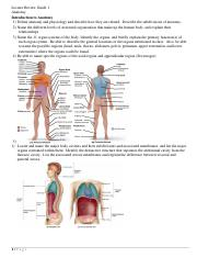 Anatomy -- Lecture Review Guide 1 (ELAC) - 3057