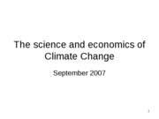 The science and economics of Climate Change2007