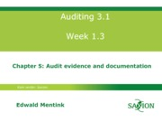 Auditing 3.1 college 3, chptr 5, eme03