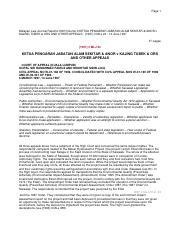 129232118 Ketua Pengarah Jabatan Alam Sekitar Anor V Pdf Page 1 Malayan Law Journal Reports 1997 Volume 3 Ketua Pengarah Jabatan Alam Sekitar Anor V Course Hero
