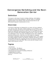 Convergence Switching and the Next-Generation Carrier