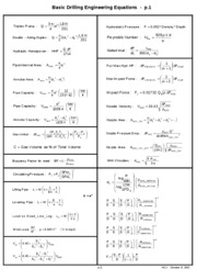p.1 Basic Drilling Engineering Equations