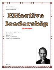 effective leadership finalproject