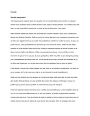 Friends paragraphs french vocab notes