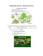 botany chapter 1 notes
