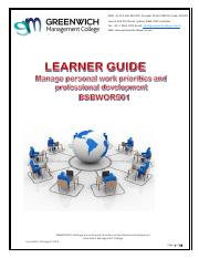 Learner Guide - Manage Personal Work Priorities and PD.pdf