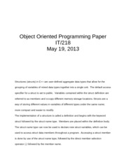 Object Oriented Programming Paper