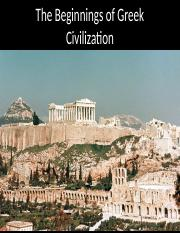 January 25 The Beginnings of Greek Civilization.pptx