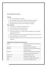 Class Note Home Modification Interventions