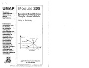 UMAP208 Economic Equilibrium