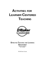 Activities+for+Learner-Centered+Teaching