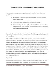 BRIEF MESSAGE ASSIGNMENT - TEXT