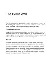 The Berlin Wall.docx