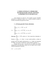 Linear Problems definitions and generalities Class Note