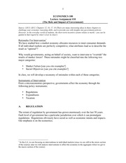 Lecture Assignment 10 - Role & Impact of Government