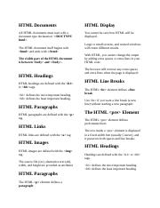 HTML Documents