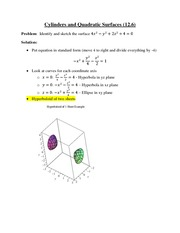 (12.6) Cylinders and Quadratic Surfaces