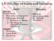 Totalitarianism Unit 2012-2013 - Lesson 8 - The Rise of Stalin H