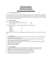 ARE 305 - Introduction to Econometrics II - Course Outline