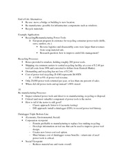 End of Life Alternatives Notes