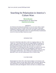 Searching for Polarization in America