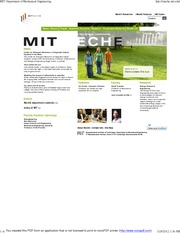 MIT Department of Mechanical Engineering