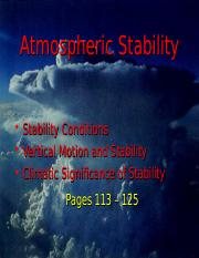 Lecture 10 - Atmospheric Stability (2.12.15)