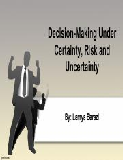 Decision making under certainty pdf
