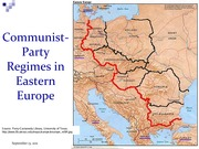 Map of Communist Party Regimes in Eastern Europe