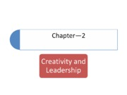 CH2 Creativity and Leadership