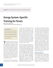 Energy System–Specific Training for Tennis