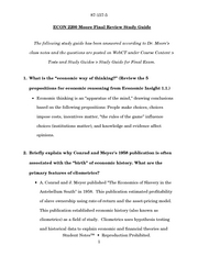 ECON 2200 Moore Final Study Guide