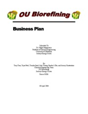 Biorefining-Business Plan