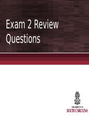 Exam 2 Review Questions