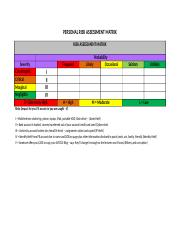 PERSONAL RISK ASSESSMENT MATRIX FOR LECTURE 6.docx