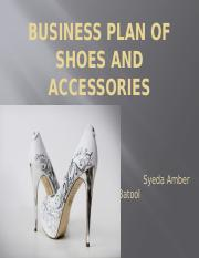 Business Plan of Shoes and Accessories