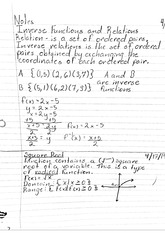 math classnotes: Inverse functions and relations
