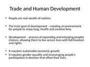 Trade and Human Development