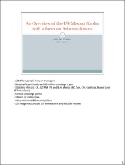 OverviewUS-Mexico Border Presentation
