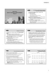 Bank Financial Management Week 5 Lecture Slides - 6 slides to a page