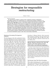 Strategies for responsible restructuring