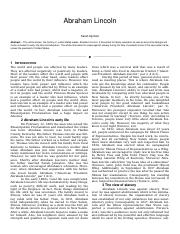 role of abraham lincoln in civil war essay Abraham lincoln and the second revolution - abraham lincoln essay example lincoln's major role in civil war transformation that was to.