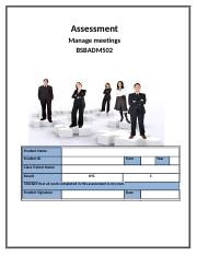 Assessment - Manage Meetings BSBADM502 120717.docx