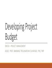 Developing Project Budget