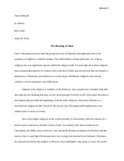 Meaning of Jihad. Term Paper.doc
