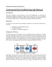 ME4611 LabManual experiment 4-Air Conditioning